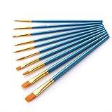 IUEFINUEN 10pcs / Set Acuarela aguada cepillos de Pintura Diferente de la Forma Redonda en Punta Punta del Pelo de Nylon Pintura Suministros de Cepillo del Arte