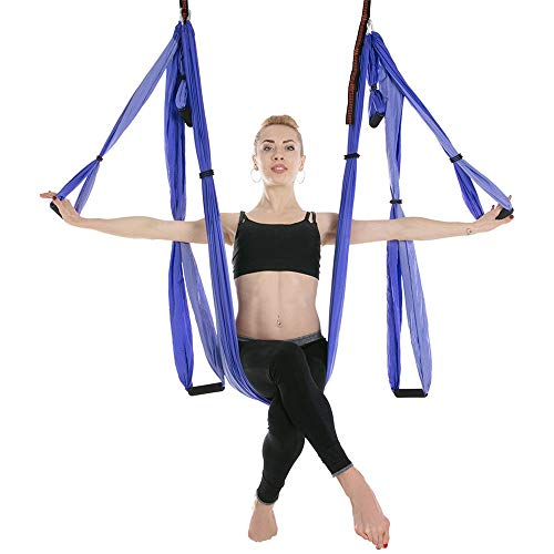 Sale!! Tuuertge Yoga Swing Reverse Aerial Yoga Hammock 6 Handles No Elastic Reversal Gravity Double ...