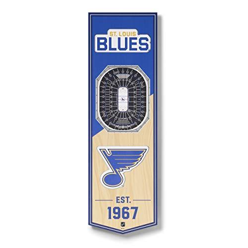 YouTheFan NHL St. Louis Blues 3D Stadionview Banner 6x19