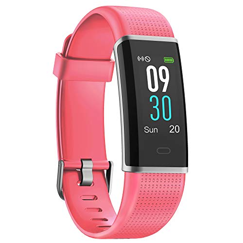 YAMAY Fitness Tracker Heart Rate Monitor Watch,IP68 Waterproof Activity Tracker Color Screen Sport Watch with Sleep Tracker Step Counter 14 Sports Mode,Smart Fitness Watch for Kids Men Women
