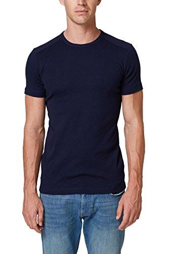 ESPRIT Herren 998EE2K816 T-Shirt, Blau (Navy 400), Medium