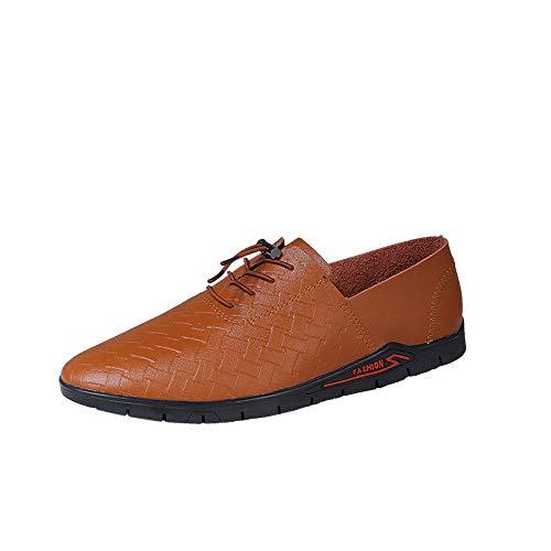 Kangqianwei-hoes pantoffels Casual Oxford voor mannen leder gevlochten werkschoenen
