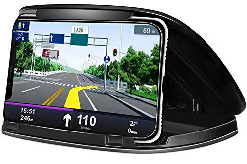 MATEIN Porta Cellulare da Auto,Supporto Smartphone per Auto Antiscivolo per Telefoni da 3-6,8 Pollici,Supporto Auto Smartphone per Samsung,iPhone,Huawei,Xiaomi,One Plus,Sony Xperia e GPS - Nero