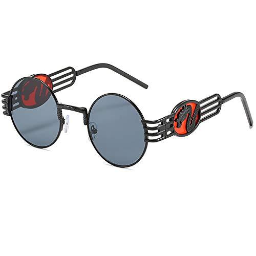 Gafas de sol polarizadas redondas retro para bicicleta con protección UV unisex (con funda para gafas)