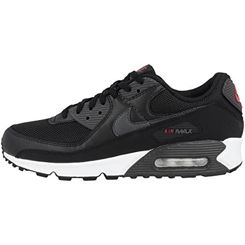 Nike Zapatillas para hombre Low Air Max 90, color Negro, talla 47 EU