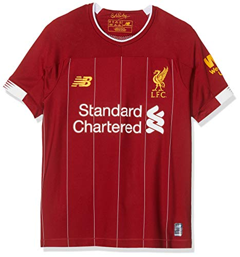 New Balance Junior International Soccer 2019-2020 Short Sleeve Jersey Liverpool F.C., Home, Large