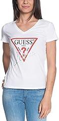 Guess Camiseta Estampada Cuello Pico para Mujer