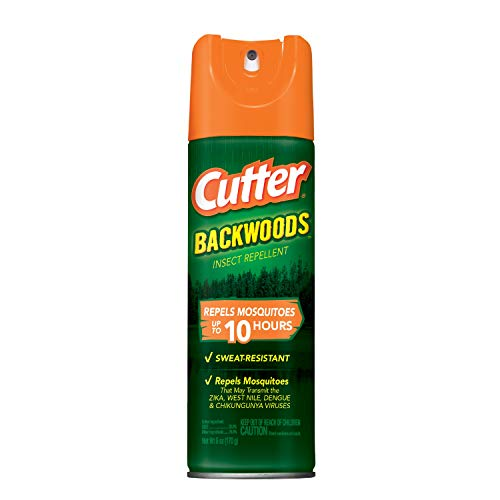 Cutter Backwoods Insect Repellent 6 Ounces, Aerosol, Repels Up to 10 Hours