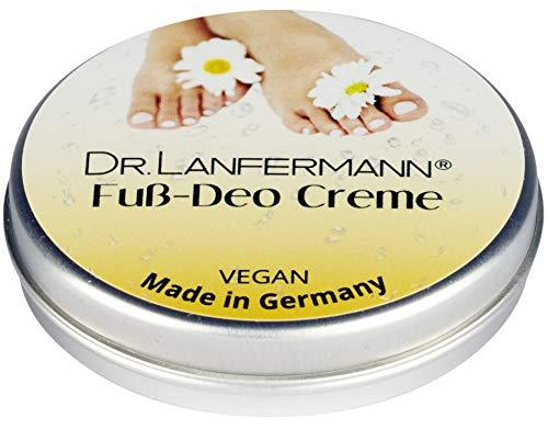 Dr. Lanfermann Fuß Deo Creme vegan 30g - Deodorant Creme ohne Aluminium gegen Fußgeruch und stinkende Füße
