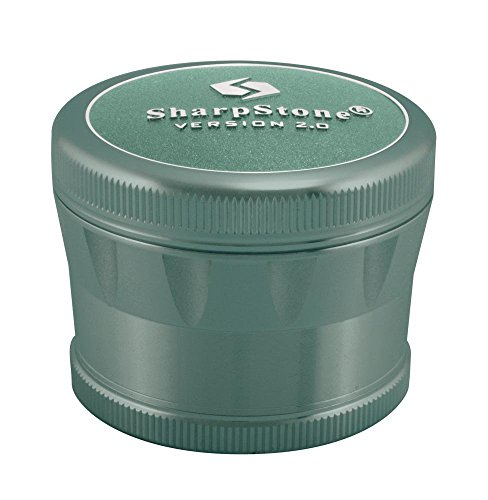 Sharpstone 2.5' Version 2.0 4pc Solid Top Grinder (Green)