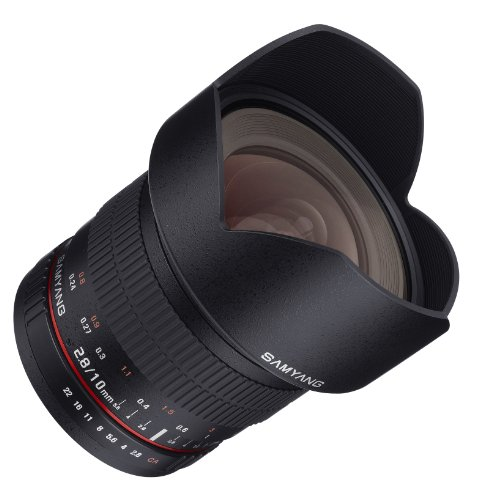 Samyang 10mm F2.8 ED AS NCS CS Ultra Wide Angle Lens Canon EF-S Type for Canon Digital SLR Cameras (SY10M-C)