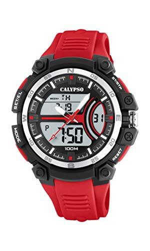 Calypso Watches Reloj Analógico-Digital para Hombre de Cuarzo con Correa en Plástico K5779/2