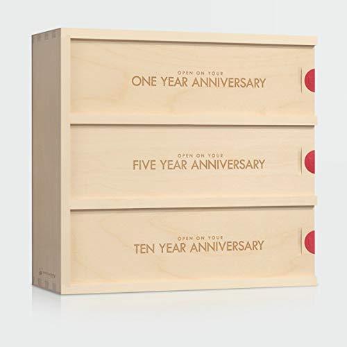 Anniversary Wine Box - Classic Trio // Wedding Gift for the Couple // Wedding Wine Box // WineforaWedding®
