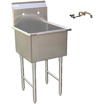 "GSW Stainless Steel Compartment Drop-In Sink Drain Basket 18/""x18/"" ETL Certified"