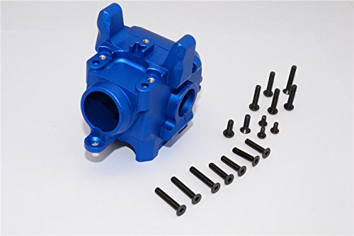 Axial Yeti XL Monster Buggy Upgrade Pièces Aluminium Front Axle Housing Mount - 1 Set Blue