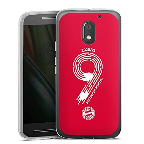 DeinDesign Silikon Hülle kompatibel mit Lenovo Moto E3 Hülle transparent Handyhülle FC Bayern München Fanartikel Meister