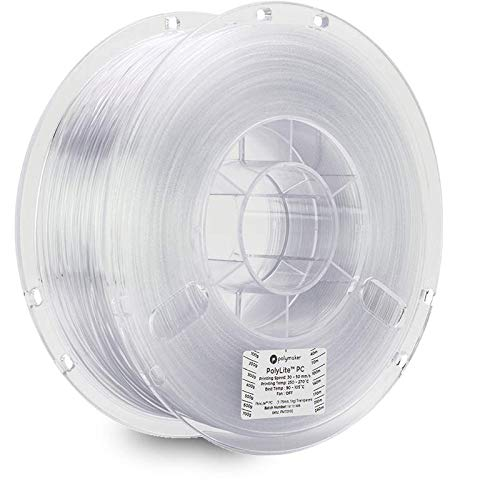 Polymaker Polylite PC (Formerly PC-Plus) 3D Printing Filament, PC Filament, 3D Printing Filament, 2.2lb(1Kg) Spool 1.75mm Filament