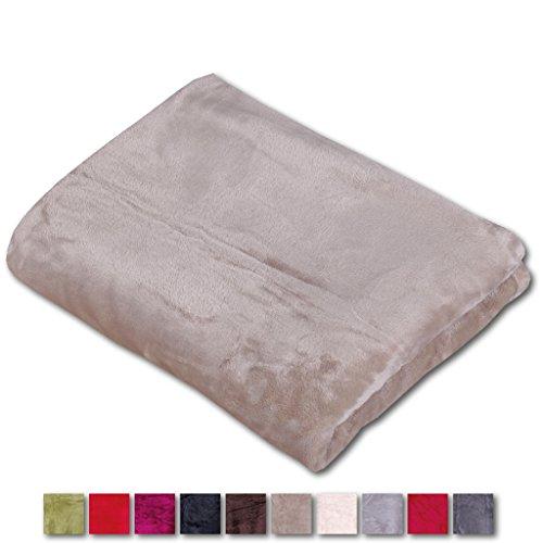 Arsvita Kuscheldecke Sofadecke Cashmere Touch Auswahl: ca: 130x170 cm, Farbe: Taupe - sandbeige