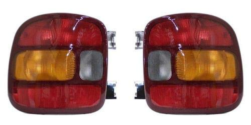 Go-Parts - PAIR/SET - for 1999 - 2005 Chevrolet Chevy Silverado Rear Tail Lights Lamps Assembly (Stepside) - Left & Right (Driver & Passenger) GM2801136 GM2800136 19169013 19169012 Replacement 2000