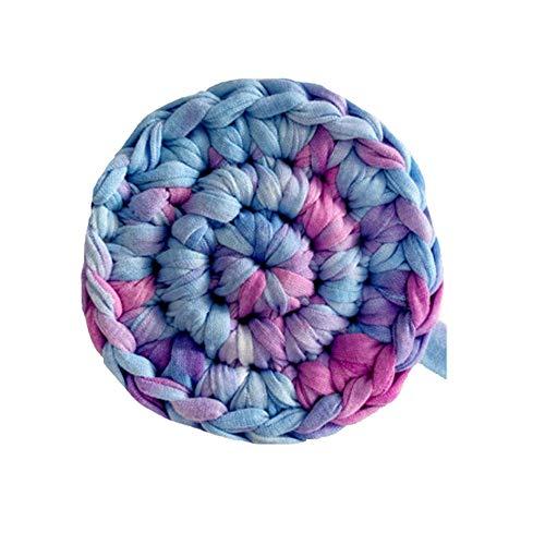 Clisil Multi-Purple T-Shirt Yarn,Trapilho,Zpagetti Yarn,T Shirt Yarn,Spaghetti Yarn DIY Knit Basket Crochet Bag Materials 180g
