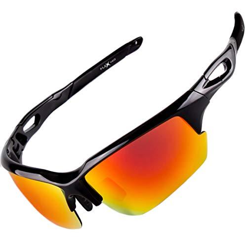FLEX V2- Polarized Sunglasses for Men Women & Teens. Ultra Tough & Lightweight Frame, Anti-glare HD lens Sports Sunglasses for Cycling Running Fishing Golf Driving Ski