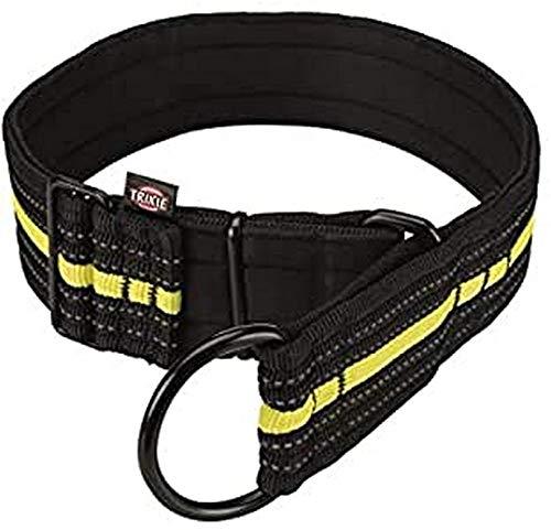 Trixie 207310 Sporting Fusion Zug-Stopp-Halsband, L–XL: 48–58 cm/50 mm, schwarz/gelb