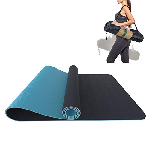 Pilatesmatte Yogamatte Rutschfest 3 Schichten Gymnastikmatte Yoga Aus Tpe, Pilatesmatte, Sportmatte, Turnmatte, Fitnessmatte für Yoga,Pilates, Fitness