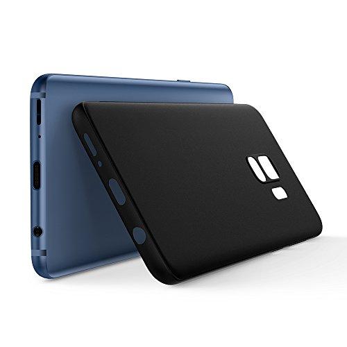 Spigen® [Air Skin Funda Galaxy S9 con Material Semi-Transparente Ligero y Fino con Forma mínima para Samsung Galaxy S9 (2018) - Negro