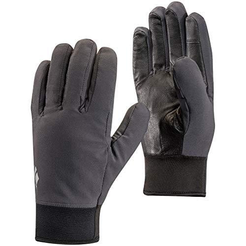 Black Diamond Midweight Softshell Guantes, Unisex Adulto, Smoke, Medium