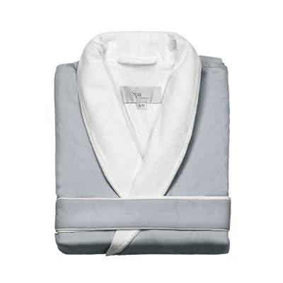 Kassatex SRK-148-SSG Spa Robe, Silver Sage (Small/Medium)