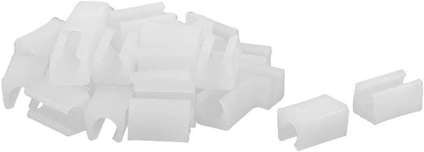 sourcingmap® Accessorio per mobili sedie plastica che termina gamba Cap inserto tubo bianco 30pcs