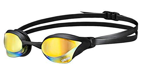 arena Unisex Training Wettkampf Schwimmbrille Cobra Core Mirror (Verspiegelt, UV-Schutz, Anti-Fog Beschichtung), Yellow Revo-Black (53), One Size