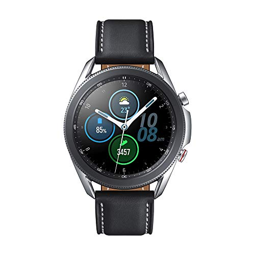 Samsung Galaxy Watch 3 Stainless Steel 45 mm Bluetooth Smart Watch - Mystic Silver (UK Version)