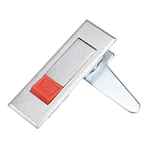 sourcing map Cerradura de armario con botón pulsador rojo emergente eléctrico leva...