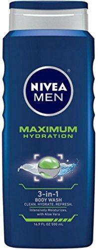 Nivea 3n1 Bdy Wsh Hydra M Size 16.9z Nivea Men'S Maximum Hydration 3n1 Body Wash 16.9z
