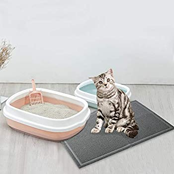 EONO by Amazon Tapis de litière pour Chat Tapis litiere Chat Anthracite Tapis pour Bac à Litière Étanche de, Format très Grande Taille XL(91 * 61cm)