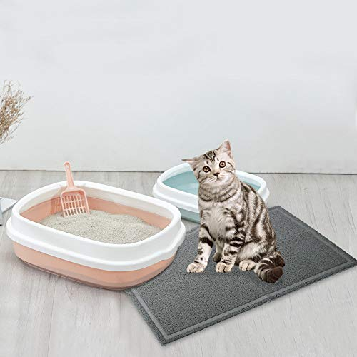 EONO by Amazon Alfombrilla para Bandeja higiénica de Gatos (Antracita, XL, 90 * 60cm)