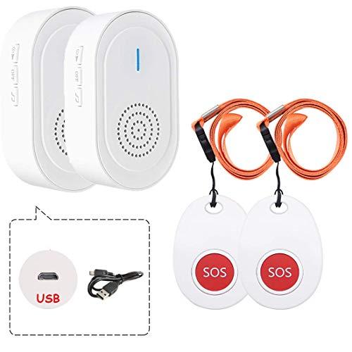 Botón de Llamada Emergencia Inalámbrica/Sistema de Alarma Hogar/Buscapersonas del Cuidador para el Paciente Personal de Edad/Receptor Cargable