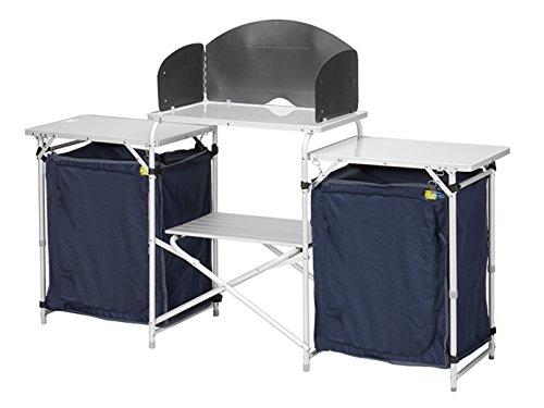 Campart Travel Armoire de Camping et de Cuisine Pliante XXL - pour extérieur et Cuisine
