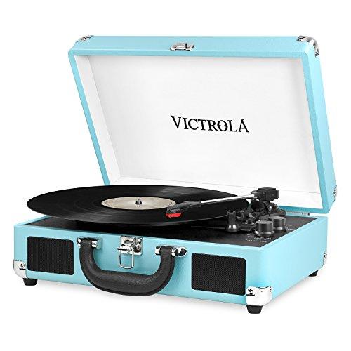 Victrola(Turchese) Vsc-550Bt-Trq A Valigia Vintage Bluetooth A 3 Velocita