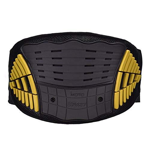 ATpart Motorfietsgordel, bescherming tegen paardrijden, motorfiets, body guard vest, anti-val, aandrijving, terreinwagen, nierbescherming, riem, sportbeschermende uitrusting geel
