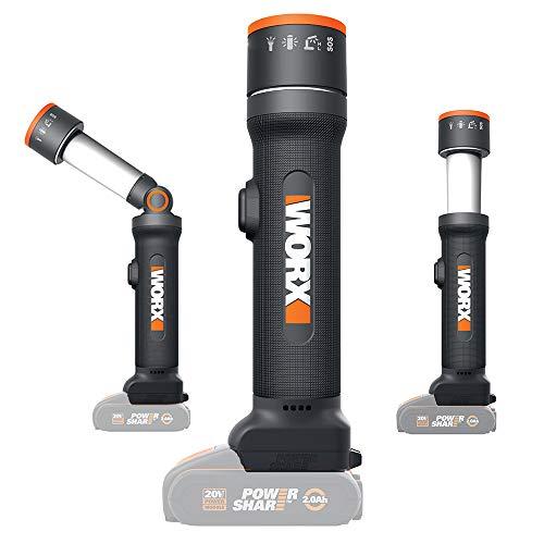 Worx WX027.9 - Linterna LED 4 funciones 20V S/bat