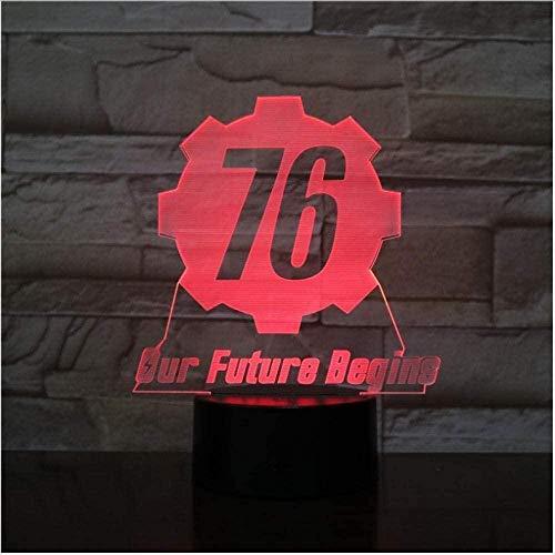 Fallout 76 Nuestro futuro comienza USB 3D LED Luz nocturna niño Niño Niños Bebé Regalos Luces decorativas Juego Lámpara de mesa