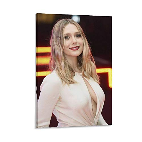 great Elizabeth Olsen Sexy Neckline Celebrity Poster Decorative Painting Canvas Wall Art Living Room Posters Bedroom Painting 16x24inch(40x60cm)