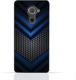 Blackberry Dtek 60 TPU Silicone Case With Abstract Blue Mesh Pattern