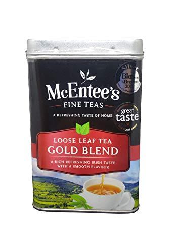 McEntee's Irish Loose Leaf Gold Blend Tea – 500 g blik – vakkundig gemengd in Ierland om die perfecte kop thee te geven.