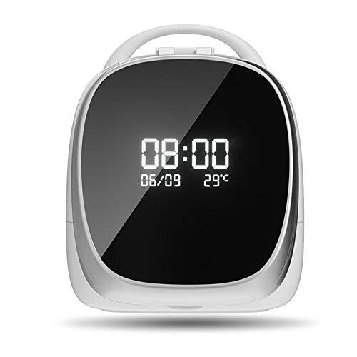 PsgWXL Boîtes de Rangement Cosmetic avec Miroirs à LED Rotatif de 180 Degrés Réglage D'Éclairage Smart Portable pour Salle de Bain WC Chambre Face Pivotant,Noir,Smart Version