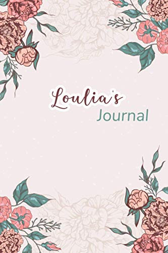 Loulia's Journal: Beautiful Notebook Gift for Loulia, Elegant Cover,Practical 100 Lined Pages with Timeline, 6