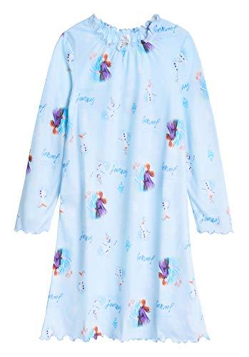 Disney Die Eiskönigin 2 Nachthemd Mädchen, Anna und ELSA Kleid Sommer, Langarm Kleid Schlafanzug Mädchen 3-12 Jahre, Geschenke für Mädchen (7-8 Jahre)