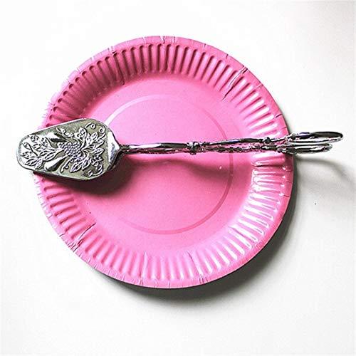 Antideslizante Plata estilo noble de oro pinzas de pan de verduras y frutas pinzas de la torta de postre pasteles pinzas buffet de barbacoa pinzas pinzas utensilios de cocina para asar y cocinar